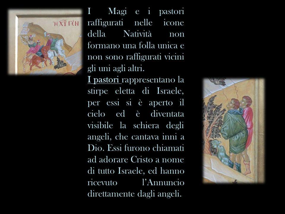 I Magi e i pastori raffigurati nelle icone della Natività non formano una folla unica e non sono raffigurati vicini gli uni agli altri. I pastori rapp