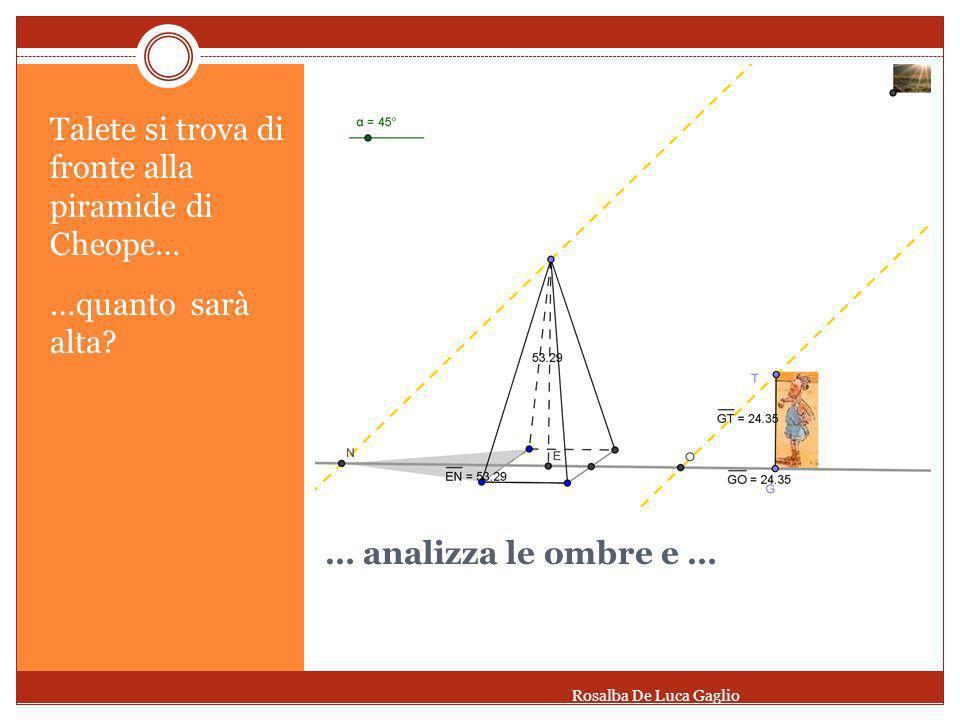 Il teorema del fascio di rette parallele Dato un fascio di rette parallele tagliate da due trasversali, a segmenti congruenti su una trasversale corrispondono segmenti congruenti sullaltra trasversale Rosalba De Luca Gaglio
