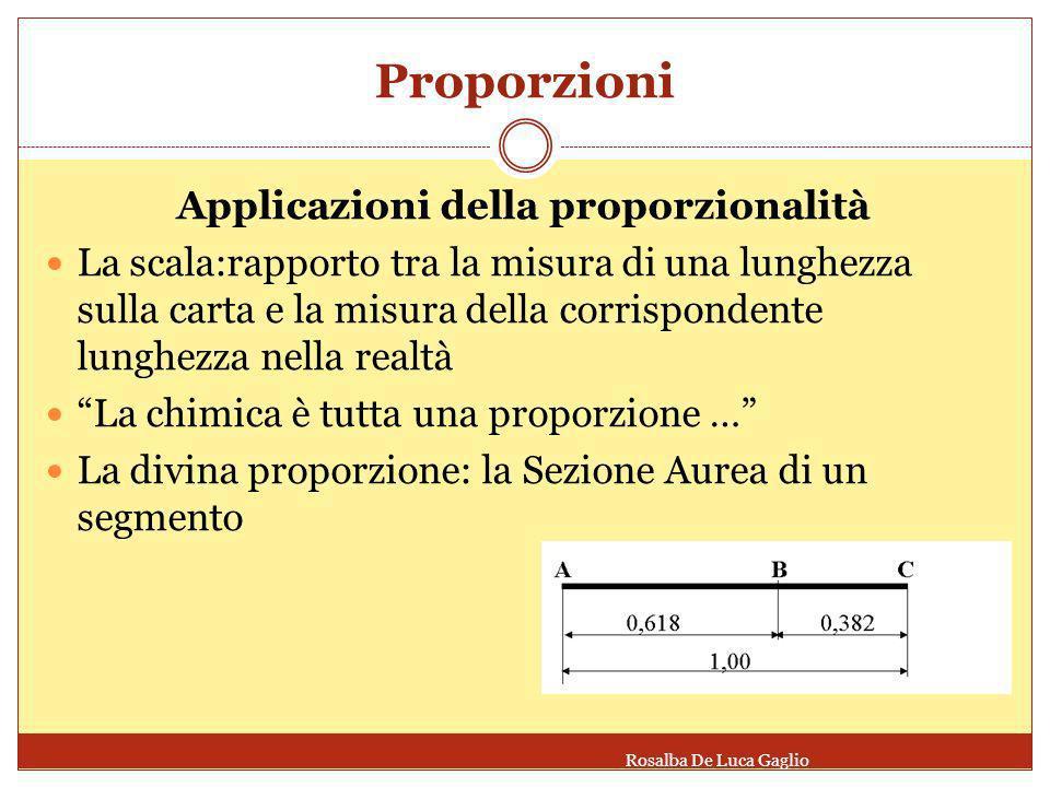 Le proporzioni in natura Rosalba De Luca Gaglio