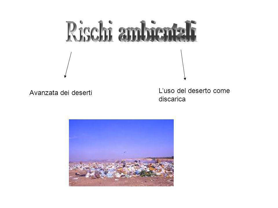 Avanzata dei deserti Luso del deserto come discarica