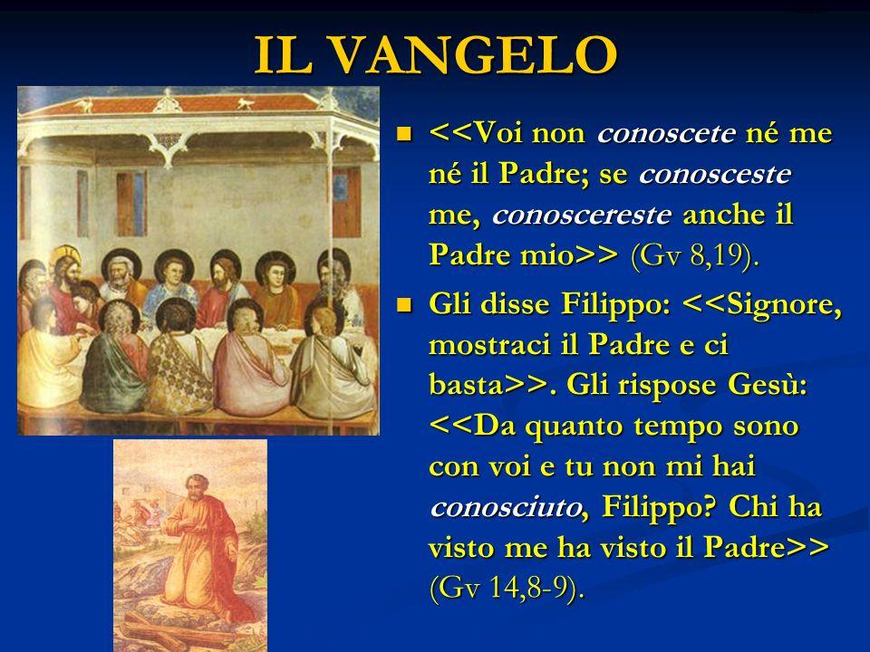 IL VANGELO > (Gv 8,19). > (Gv 8,19). Gli disse Filippo: >. Gli rispose Gesù: > (Gv 14,8-9). Gli disse Filippo: >. Gli rispose Gesù: > (Gv 14,8-9). rit