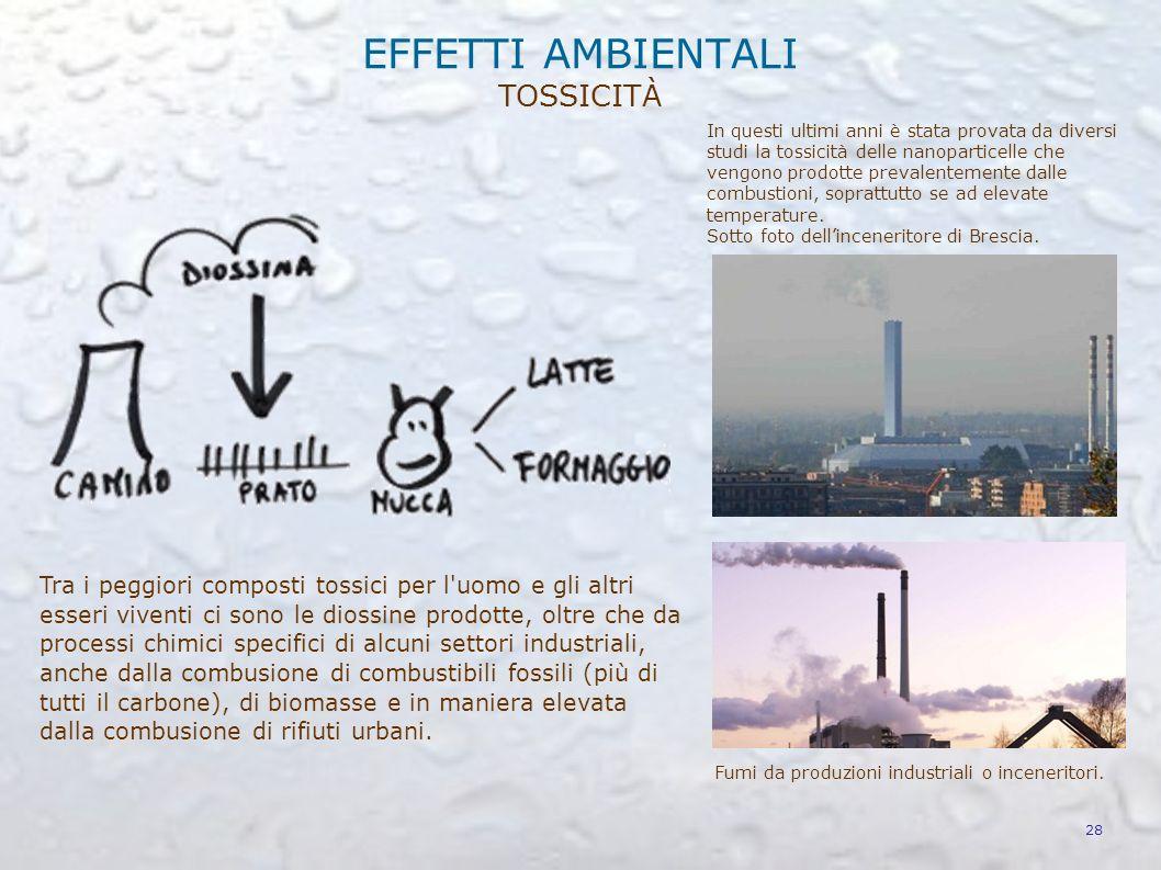 La produzione antropica di diossido di azoto e idrocarburi (soprattutto dovuti a combustioni incomplete e incontrollate di combustibili fossili e biom