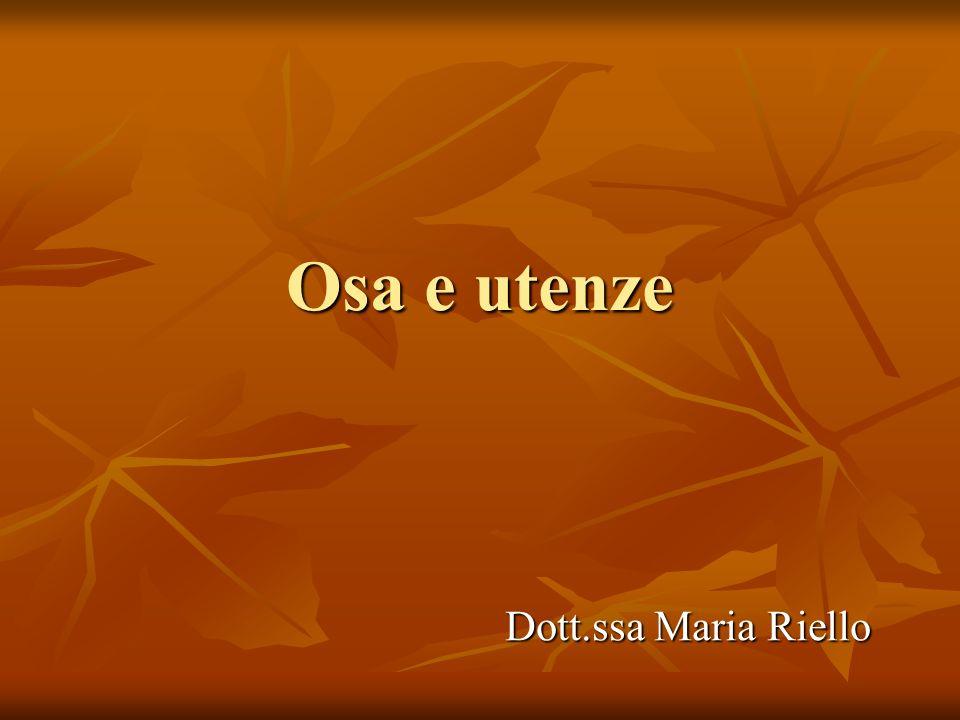Osa e utenze Dott.ssa Maria Riello