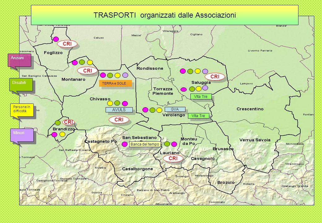 Solo spostamento Assistenza anche dopo larrivo a destinazione Assistenza solo durante il viaggio TRASPORTI per ANZIANI organizzati dai Comuni