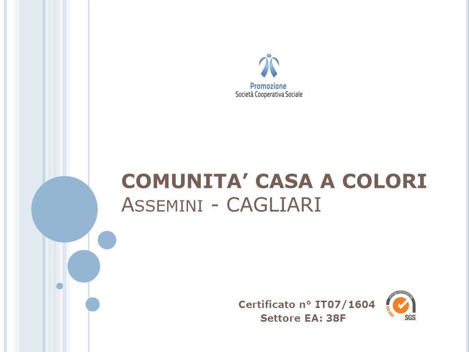 COMUNITA CASA A COLORI A SSEMINI - CAGLIARI Certificato n° IT07/1604 Settore EA: 38F