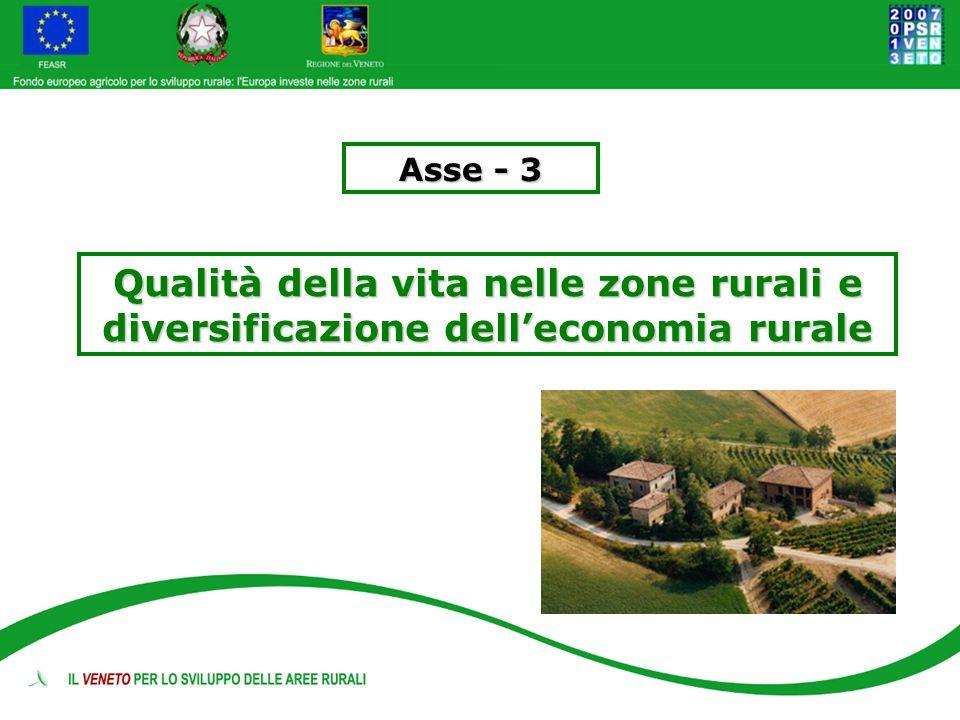 Asse - 3 Qualità della vita nelle zone rurali e diversificazione delleconomia rurale