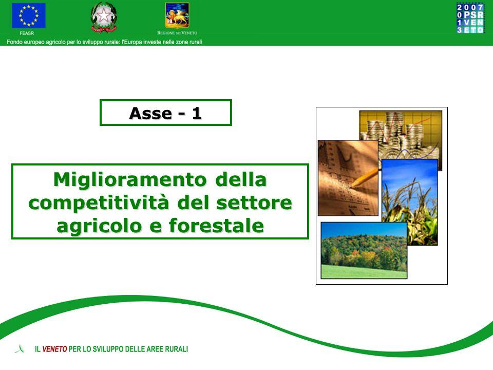 Asse - 1 Miglioramento della competitività del settore agricolo e forestale