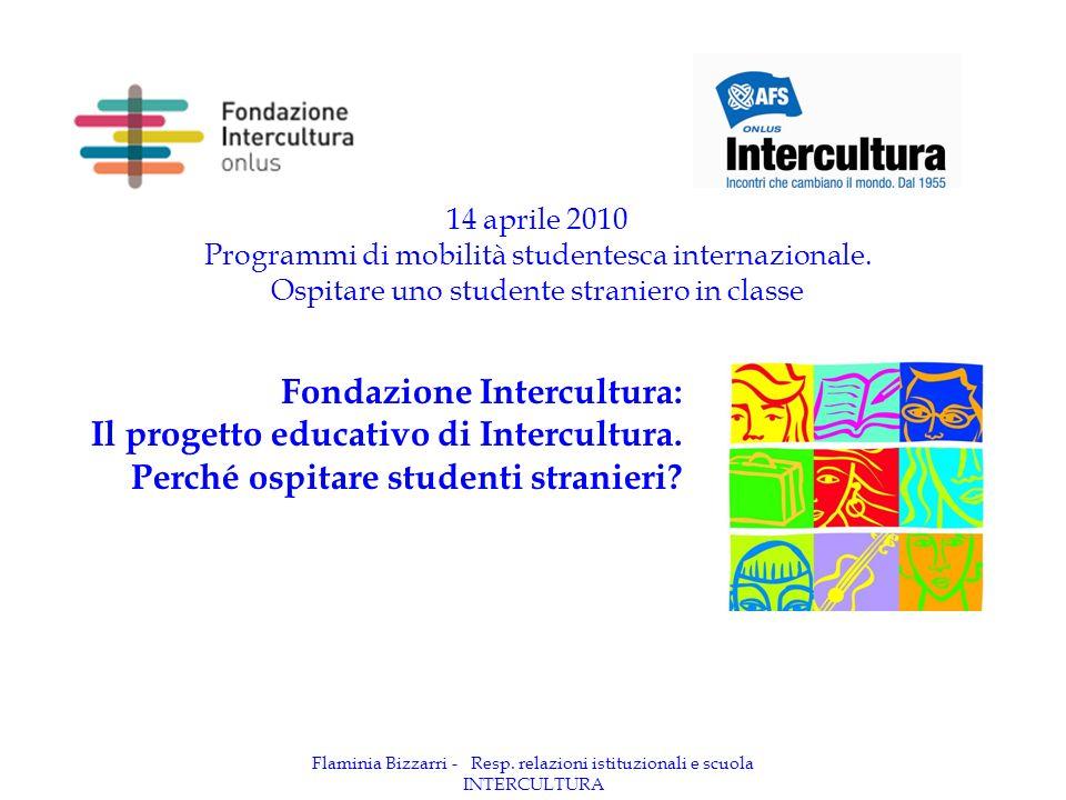 Flaminia Bizzarri - Resp. relazioni istituzionali e scuola INTERCULTURA