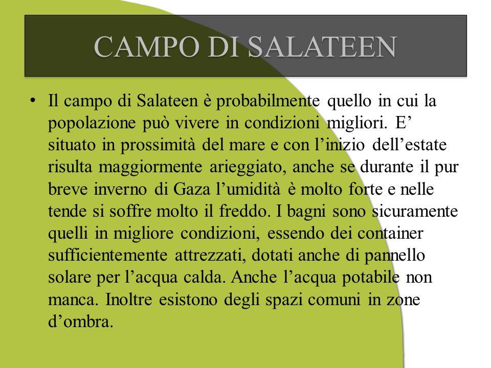 Il campo di Salateen è probabilmente quello in cui la popolazione può vivere in condizioni migliori.