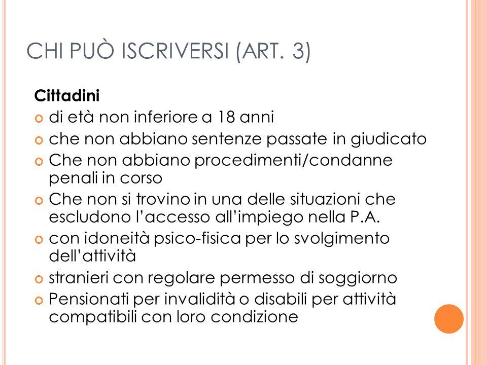 A REE DI INTERVENTO ( ART.