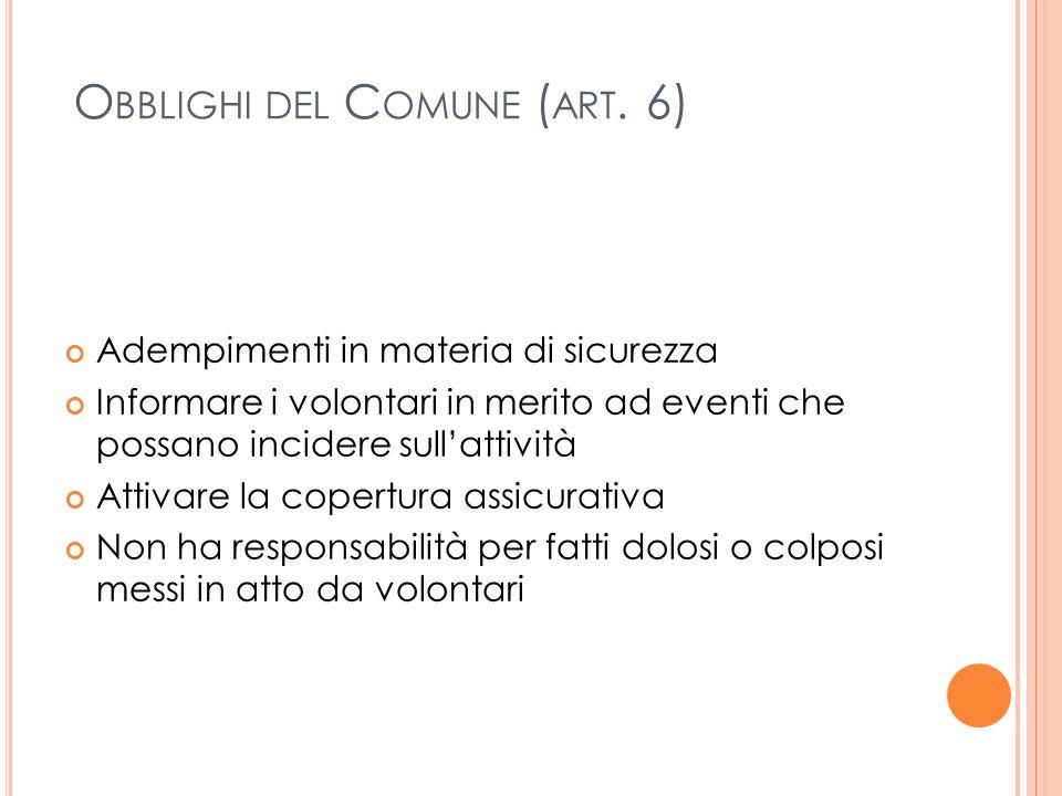 O BBLIGHI DEL C OMUNE ( ART.