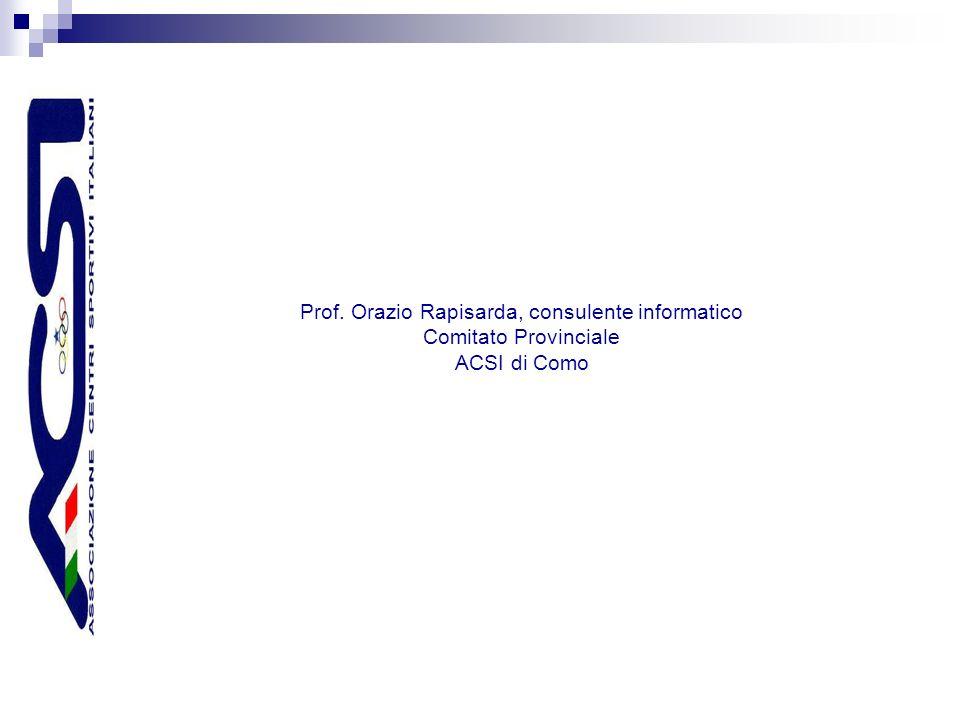 Prof. Orazio Rapisarda, consulente informatico Comitato Provinciale ACSI di Como