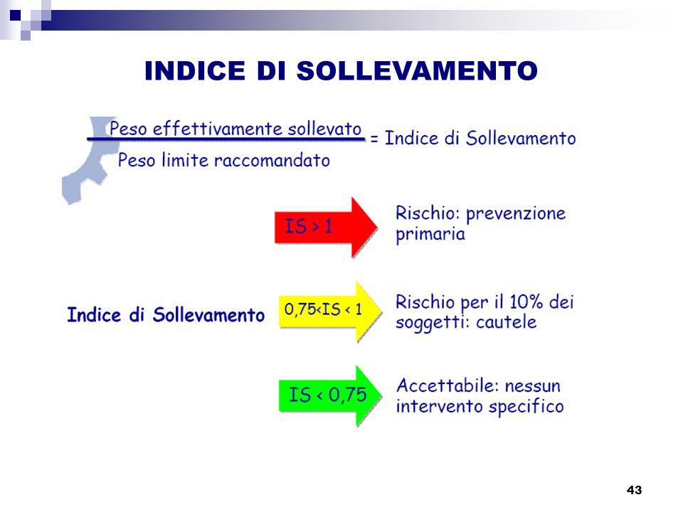 43 INDICE DI SOLLEVAMENTO