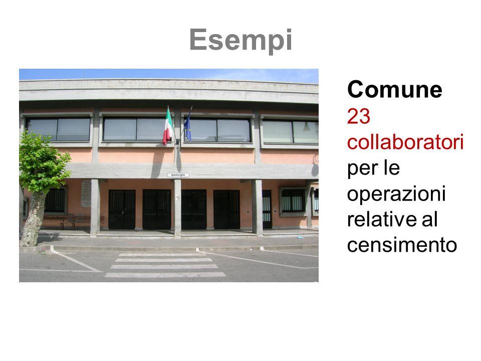 Esempi Comune 23 collaboratori per le operazioni relative al censimento