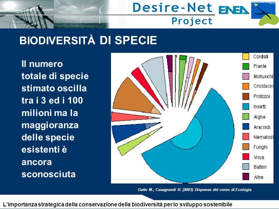 BIODIVERSITÀ DI SPECIE Gatto M., Casagrandi R.