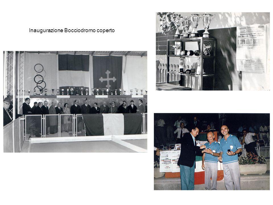 Inaugurazione Bocciodromo coperto
