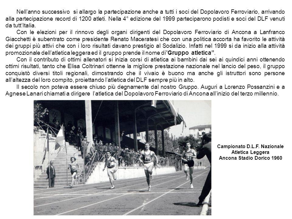 Nellanno successivo si allargo la partecipazione anche a tutti i soci del Dopolavoro Ferroviario, arrivando alla partecipazione record di 1200 atleti.