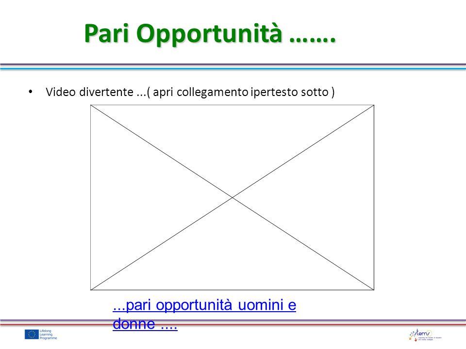 Pari Opportunità ……. Video divertente...( apri collegamento ipertesto sotto )...pari opportunità uomini e donne....