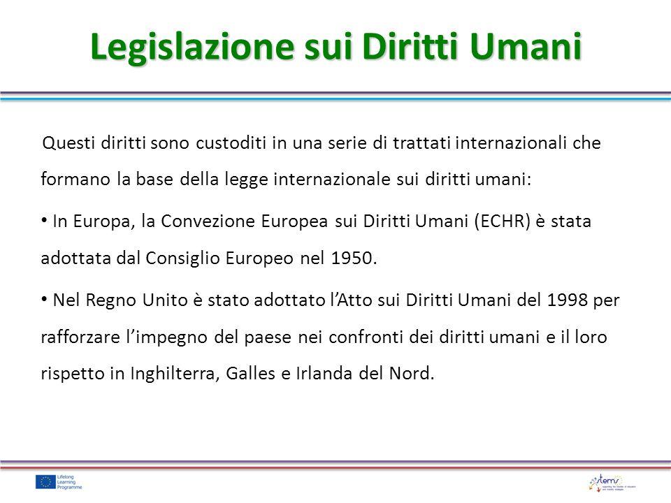 Questi diritti sono custoditi in una serie di trattati internazionali che formano la base della legge internazionale sui diritti umani: In Europa, la