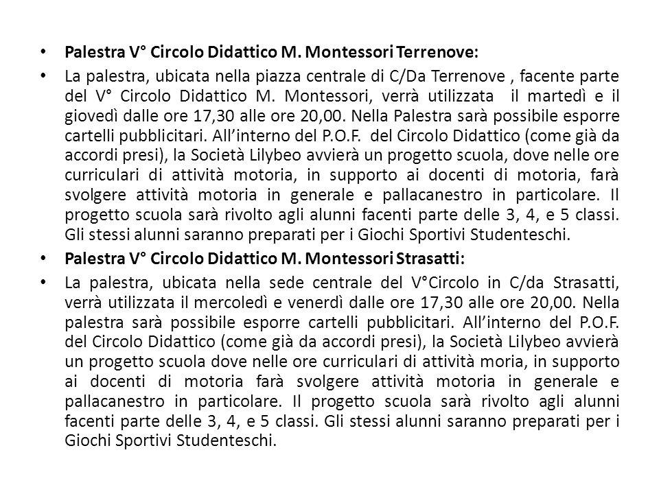 Palestra V° Circolo Didattico M. Montessori Terrenove: La palestra, ubicata nella piazza centrale di C/Da Terrenove, facente parte del V° Circolo Dida