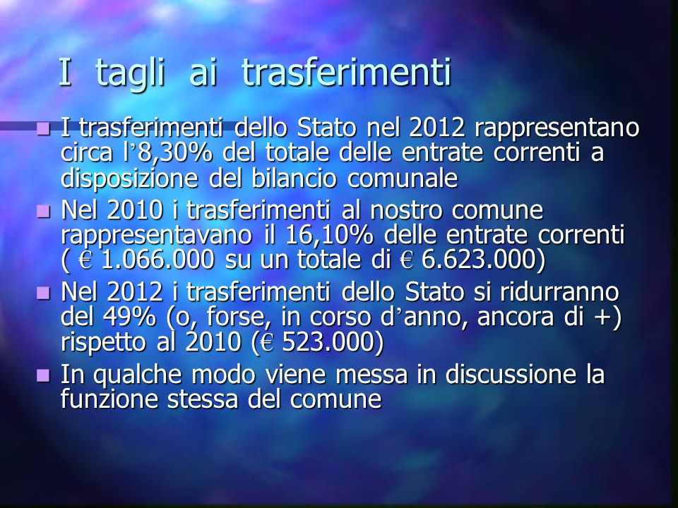 LE PRINCIPALI ENTRATE STRAORDINARIE DEL 2012