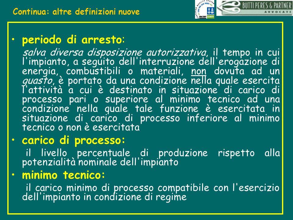 periodo di arresto: salva diversa disposizione autorizzativa, il tempo in cui l'impianto, a seguito dell'interruzione dell'erogazione di energia, comb