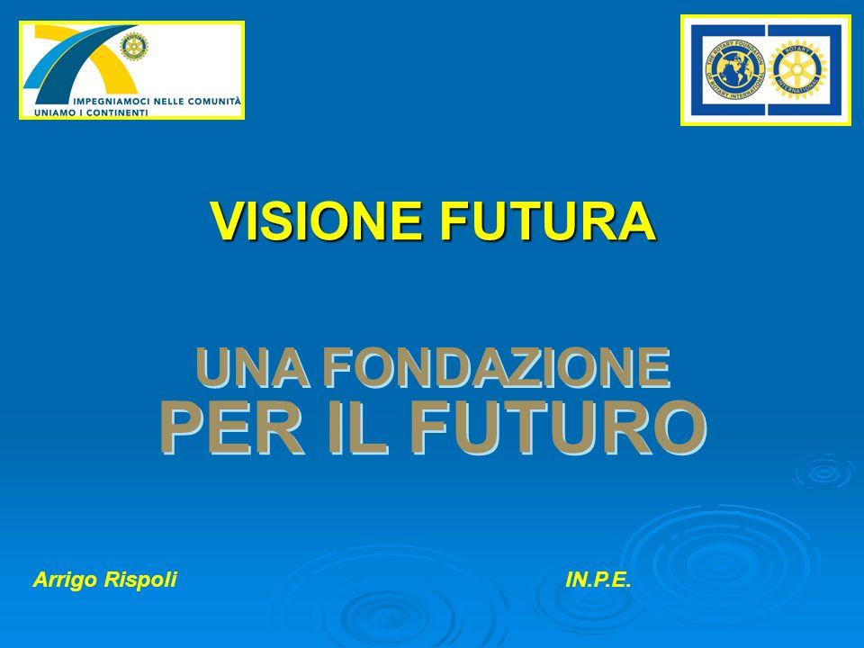 VISIONE FUTURA UNA FONDAZIONE PER IL FUTURO Arrigo RispoliIN.P.E.
