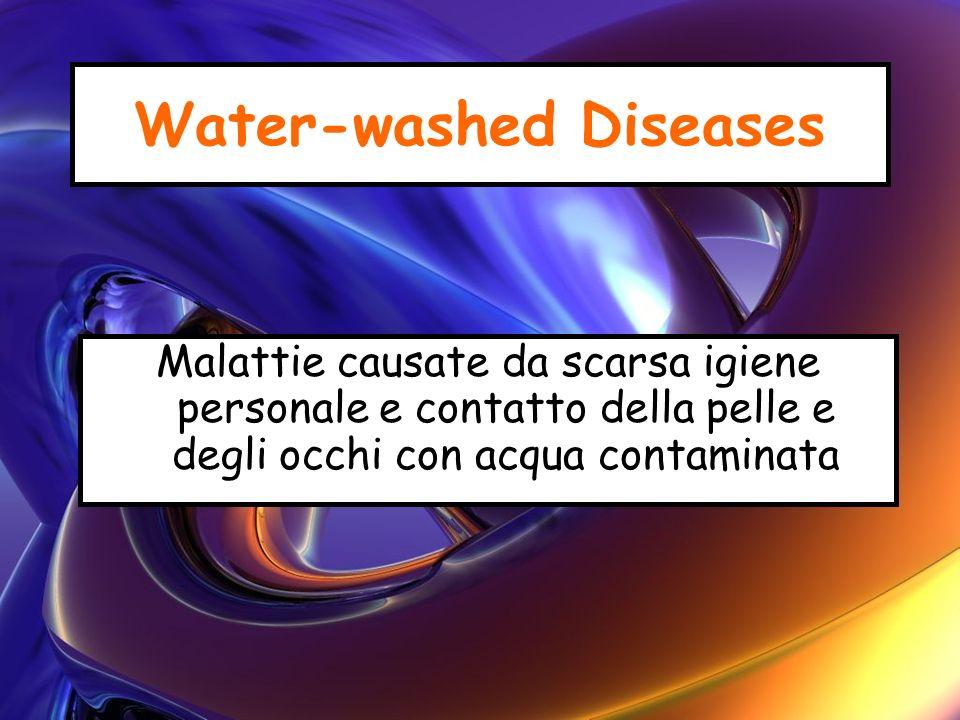 Water-washed Diseases Malattie causate da scarsa igiene personale e contatto della pelle e degli occhi con acqua contaminata