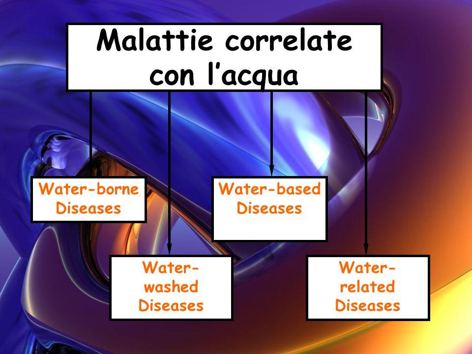 Malattie correlate con lacqua Water-borne Diseases Water- washed Diseases Water-based Diseases Water- related Diseases