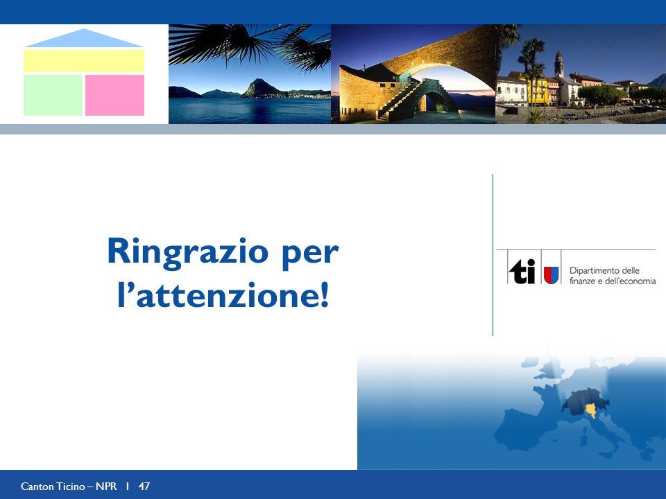 Canton Ticino – NPR I 47 Ringrazio per lattenzione!