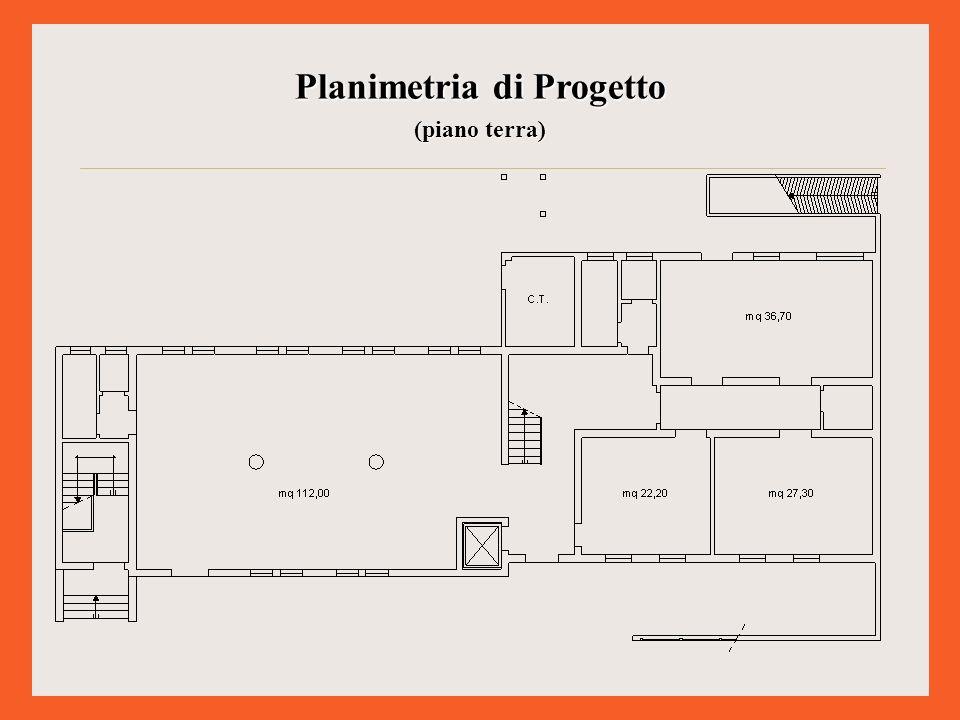Planimetria di Progetto (piano primo)