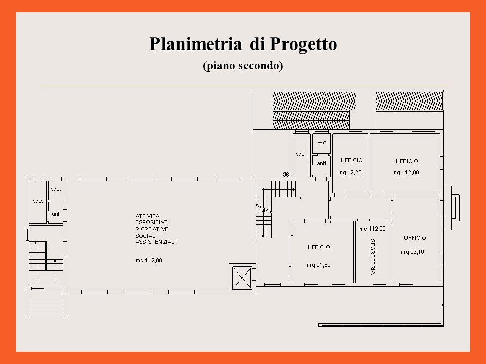 Planimetria di Progetto (piano secondo)