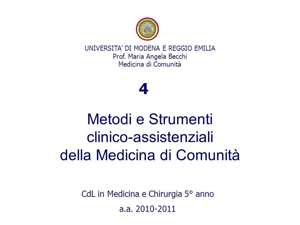 UNIVERSITA DI MODENA E REGGIO EMILIA Prof.