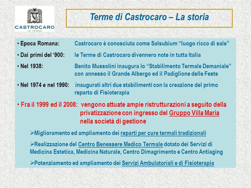 Terme di Castrocaro – La storia Epoca Romana: Castrocaro è conosciuta come Salsubium luogo ricco di sale Dai primi del 900: le Terme di Castrocaro div