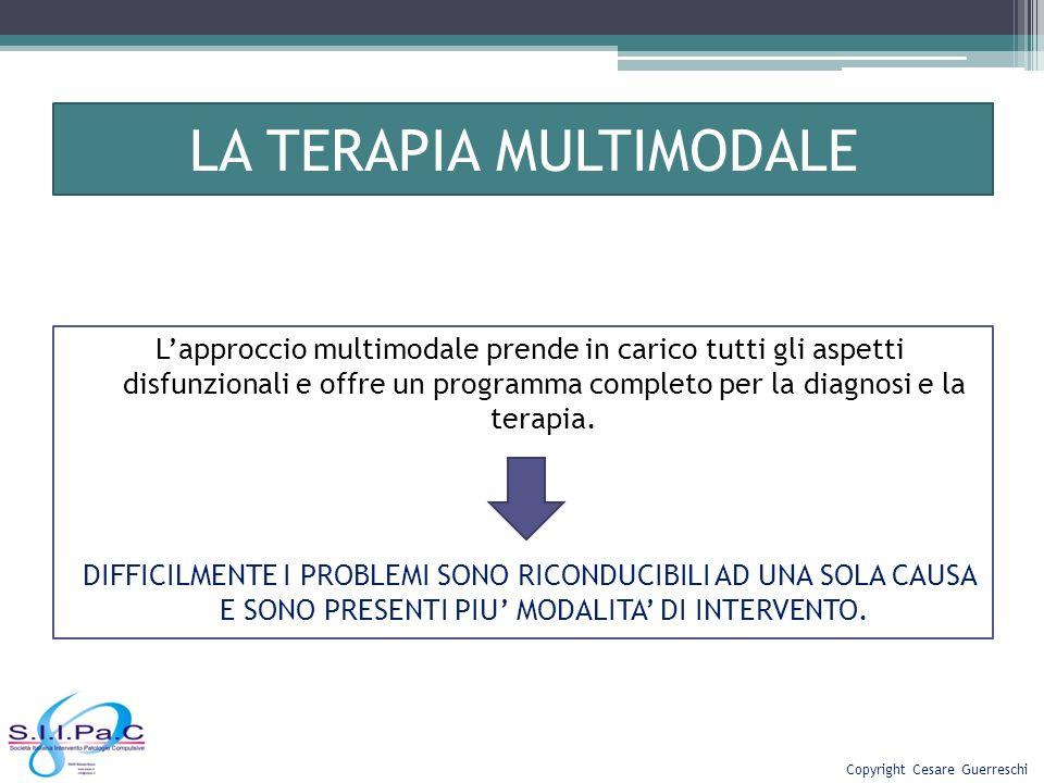 LA TERAPIA MULTIMODALE Lapproccio multimodale prende in carico tutti gli aspetti disfunzionali e offre un programma completo per la diagnosi e la tera