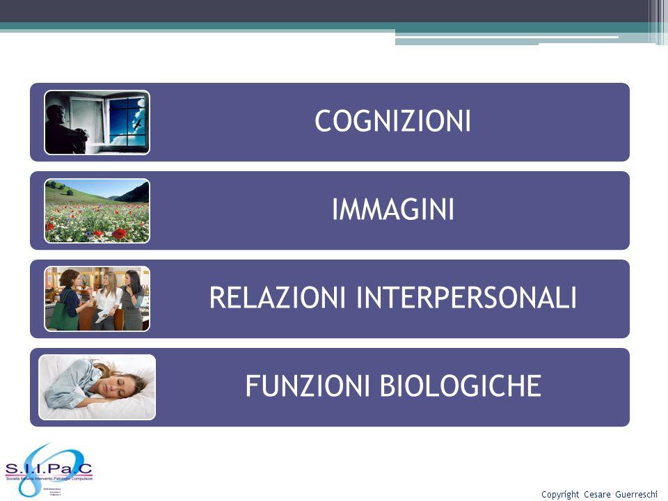 COGNIZIONI IMMAGINI RELAZIONI INTERPERSONALI FUNZIONI BIOLOGICHE Copyright Cesare Guerreschi