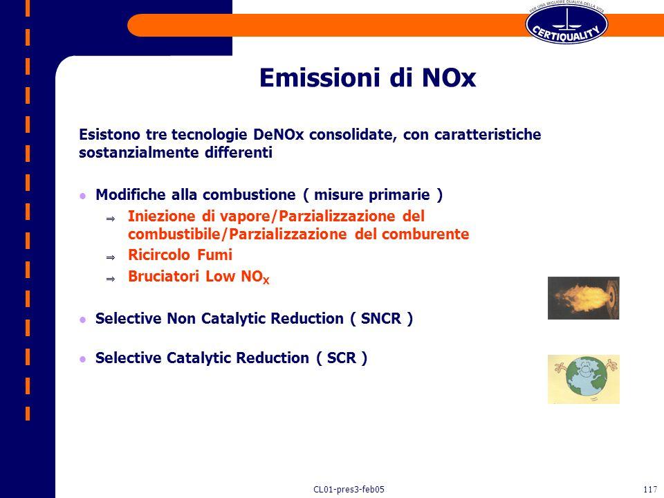 CL01-pres3-feb05116 Principio di funzionamento Impiego di una sospensione di calce in acqua che viene dispersa finemente nei fumi. L'evaporazione dell