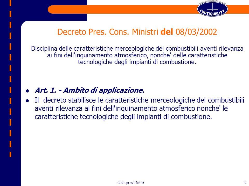CL01-pres3-feb0531 Presidente della Repubblica 26 agosto 1993, n. 412, recante norme per la progettazione, l'installazione, l'esercizio e la manutenzi