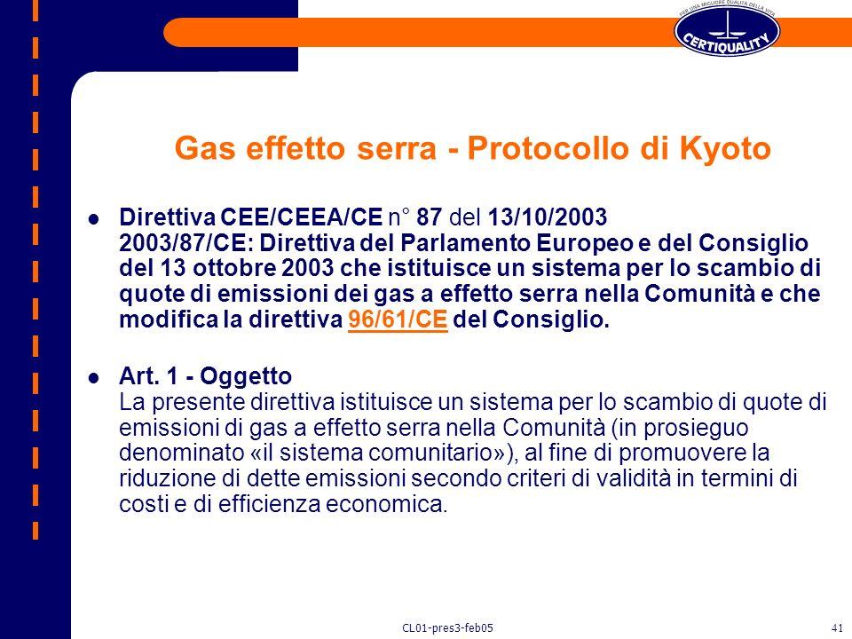 CL01-pres3-feb0540 Sostanze lesive dellozono L. 28/12/1993 n. 459: restrizione sulluso di sostanze che impoveriscono lozono. Divieto di produzione, ve