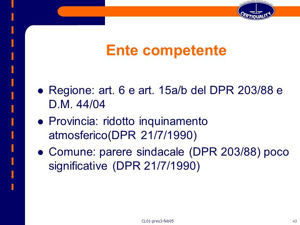 CL01-pres3-feb0542 Le autorizzazioni ente competente, contenuti, prescrizioni, comunicazioni, sanzioni.