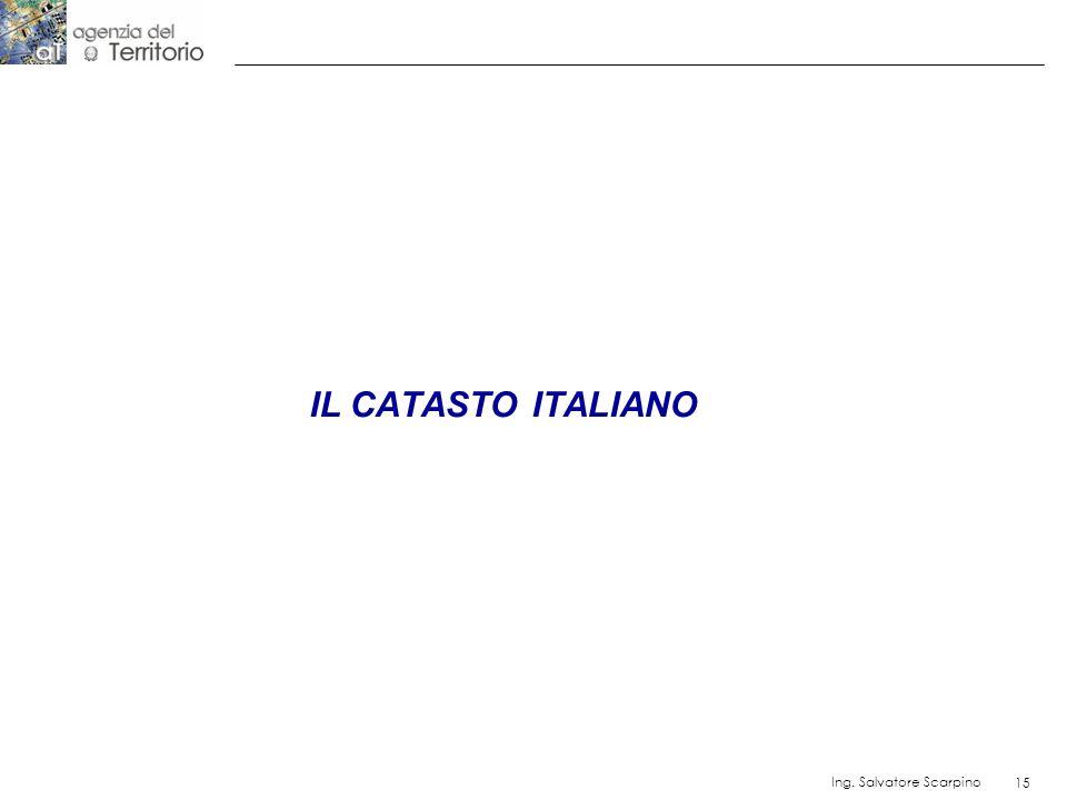 15 Ing. Salvatore Scarpino 15 IL CATASTO ITALIANO