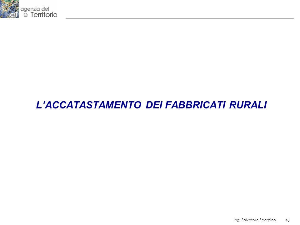 48 Ing. Salvatore Scarpino 48 LACCATASTAMENTO DEI FABBRICATI RURALI