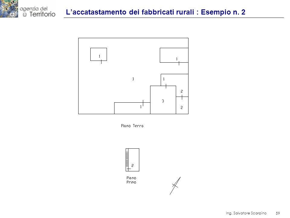 59 Ing. Salvatore Scarpino 59 Laccatastamento dei fabbricati rurali : Esempio n. 2