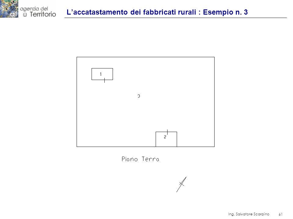 61 Ing. Salvatore Scarpino 61 Laccatastamento dei fabbricati rurali : Esempio n. 3