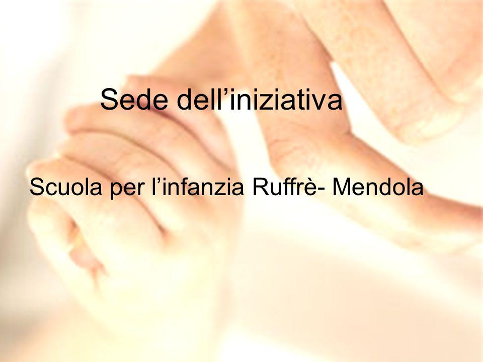 Sede delliniziativa Scuola per linfanzia Ruffrè- Mendola