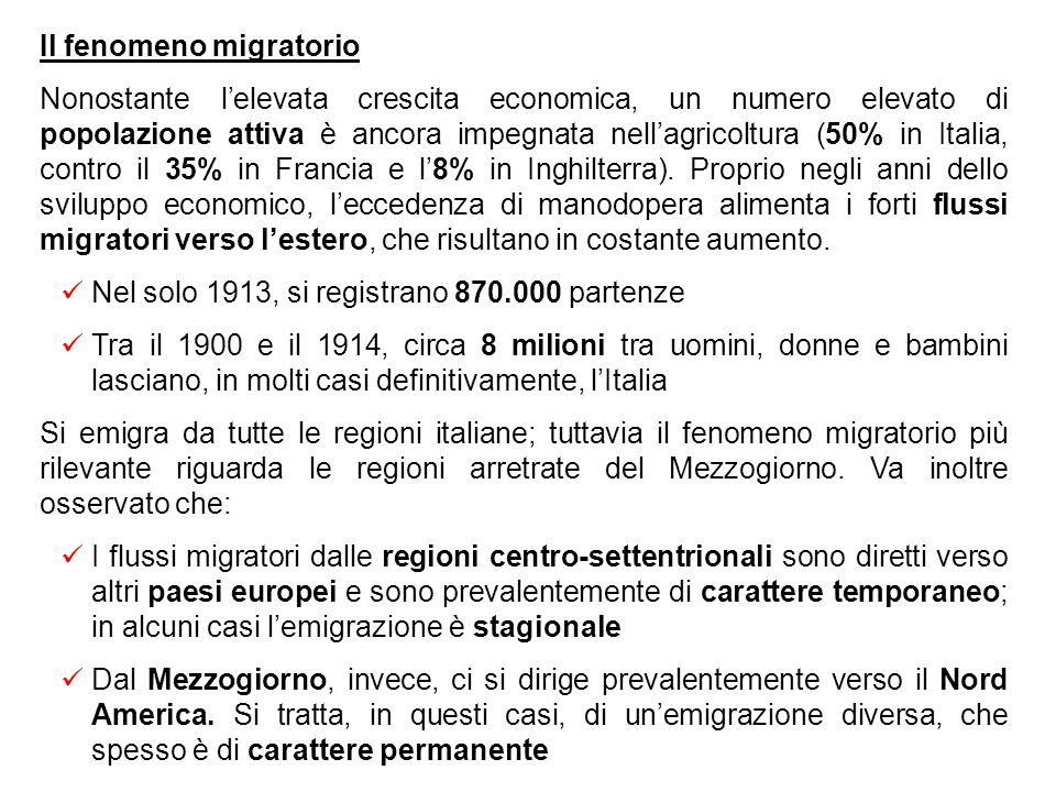 Il divario con i paesi europei più avanzati Malgrado i progressi delleconomia e la complessiva modernizzazione del paese, rimane ancora elevato il div