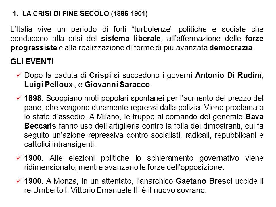 Conseguenze sociali della modernizzazione Grazie alla crescita economica si assiste ad un deciso miglioramento del tenore di vita degli italiani, soprattutto nelle città.