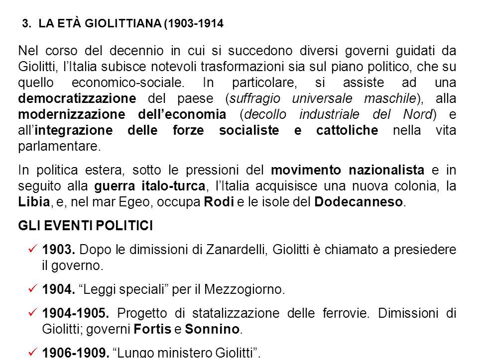 Come ministro degli interni, Giolitti si attiene a quanto affermato in un celebre discorso parlamentare tenuto nel febbraio del 1901. Giolitti, infatt