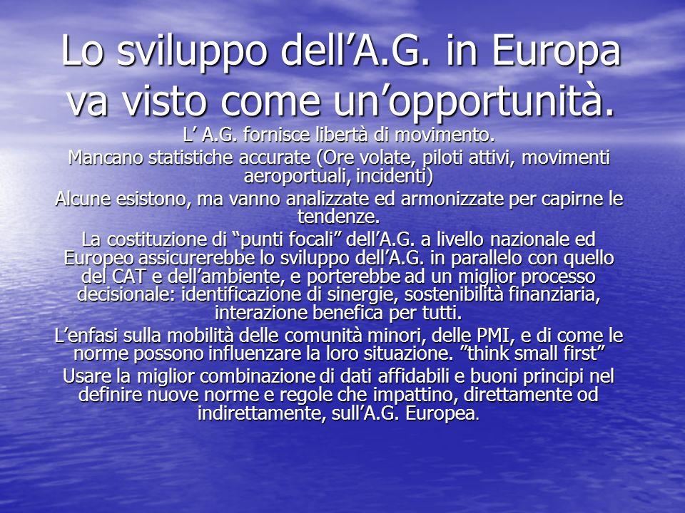 Lo sviluppo dellA.G. in Europa va visto come unopportunità.