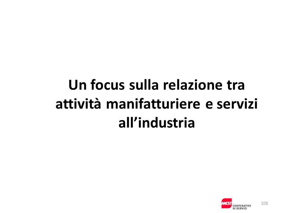 Un focus sulla relazione tra attività manifatturiere e servizi allindustria 106